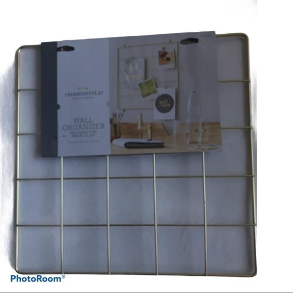 """Threshold Gold Grid Wall Organizer 15"""" x 15"""""""